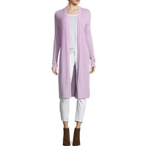 Free People Ribby Rib Open Front Duster Sweater